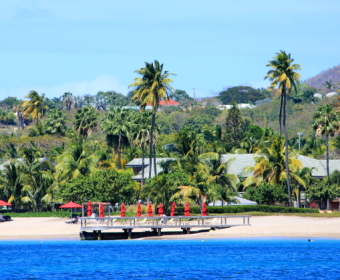 Ankerplatz vor Nevis, Charlestown