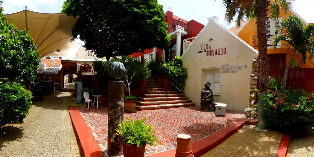 Willemstad,Curacao. Hotel und Museum Kura Hulanda