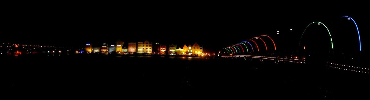 Willemstad und Königin Emma Brücke