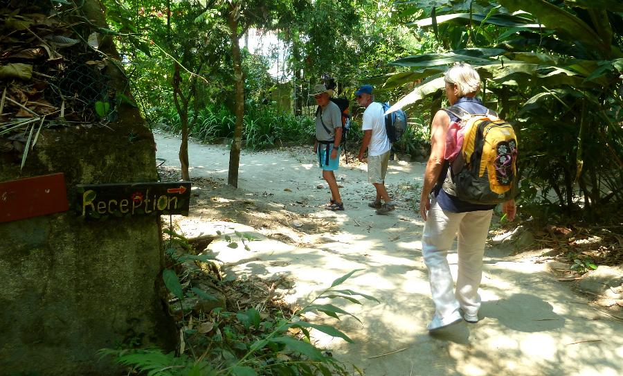Ankunft im Naturreservat Caoba