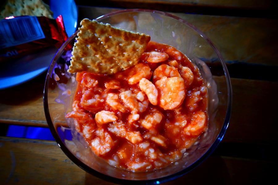 Ceviche mit Salsa rojo