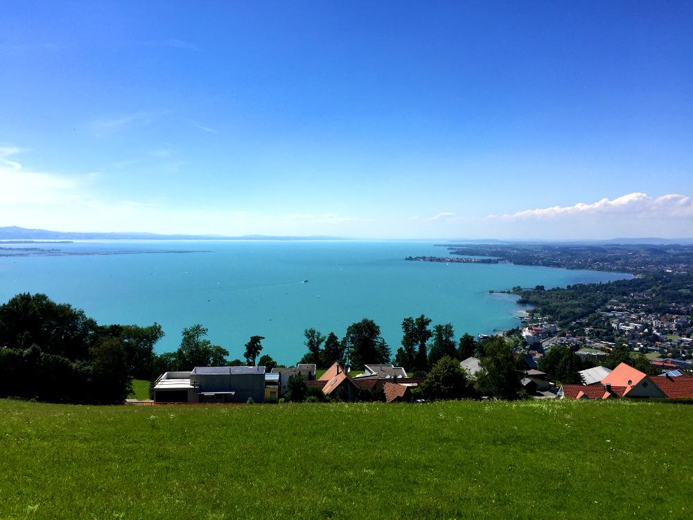 Blick über Lochau am Bodensee